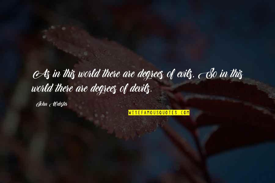 Martin Castillo Quotes By John Webster: As in this world there are degrees of