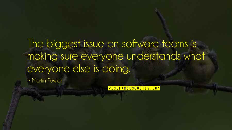 Martin Fowler Quotes By Martin Fowler: The biggest issue on software teams is making
