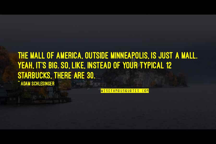 Marvellous Friendship Quotes By Adam Schlesinger: The Mall Of America, outside Minneapolis, is just