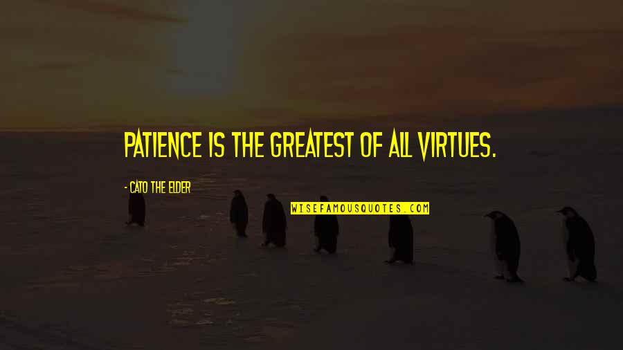 Marvin Mcfadden Quotes By Cato The Elder: Patience is the greatest of all virtues.