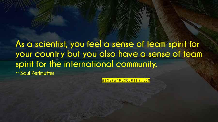 Marxist Criminology Quotes By Saul Perlmutter: As a scientist, you feel a sense of