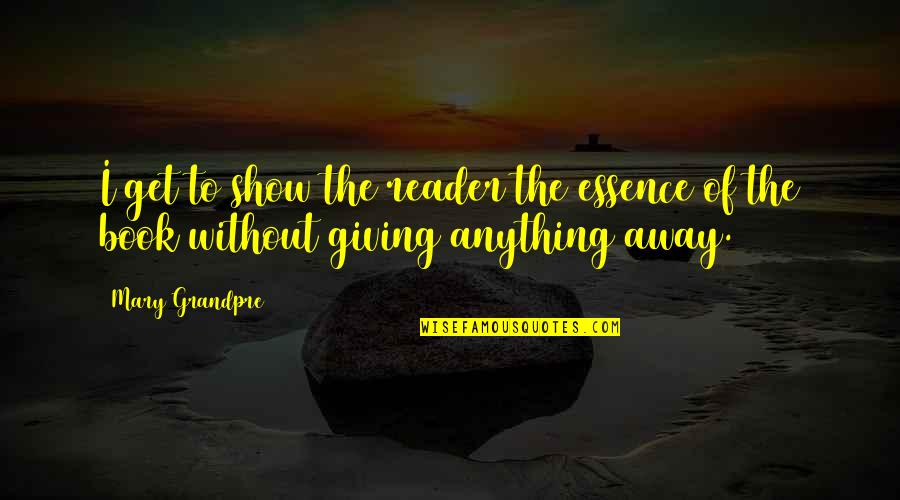 Mary Grandpre Quotes By Mary Grandpre: I get to show the reader the essence