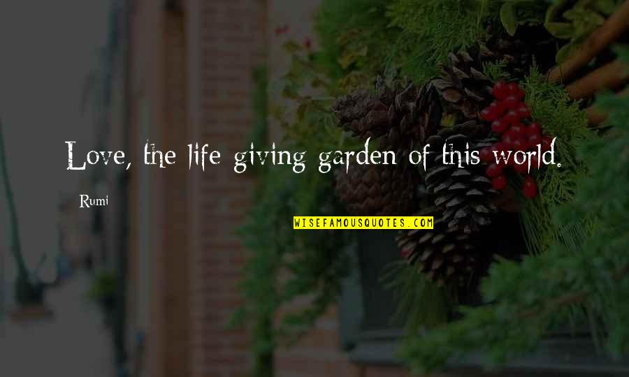 Mary Kate Danaher Quotes By Rumi: Love, the life-giving garden of this world.