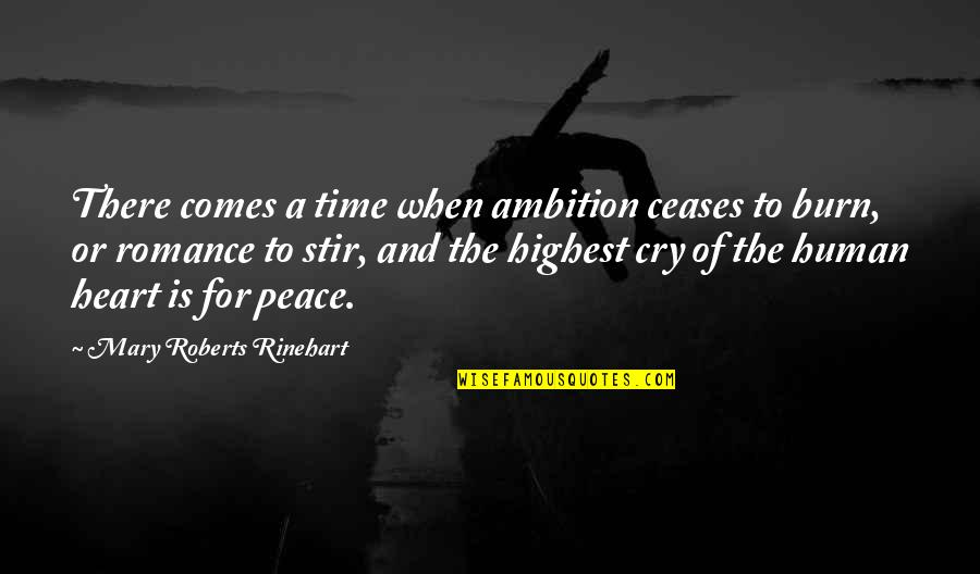Mary Roberts Rinehart Quotes By Mary Roberts Rinehart: There comes a time when ambition ceases to