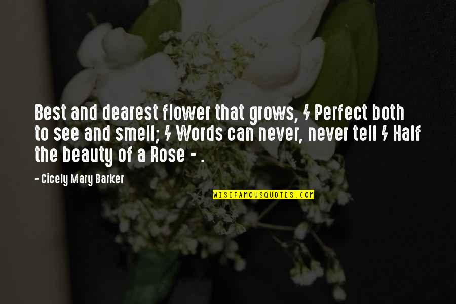 Mary Rose O'reilly Quotes By Cicely Mary Barker: Best and dearest flower that grows, / Perfect