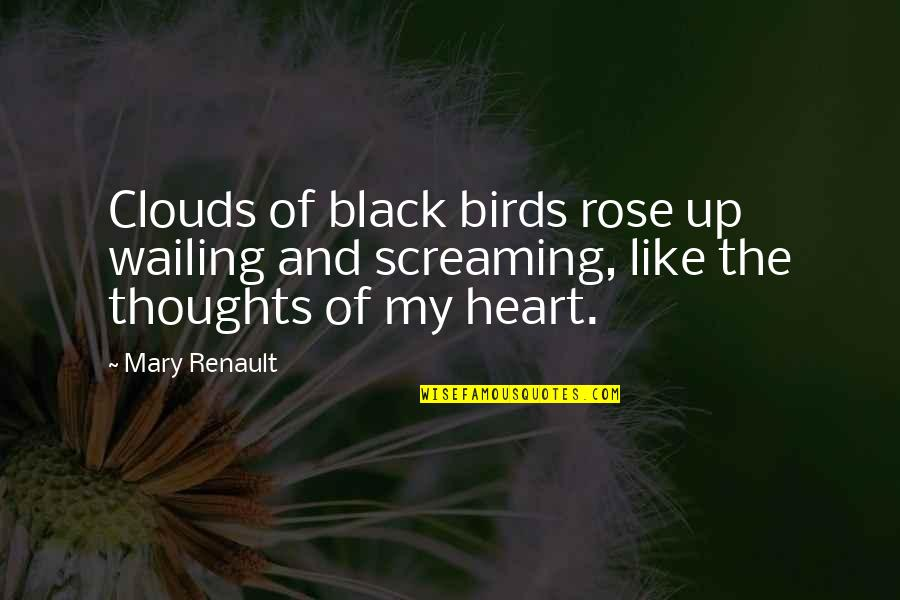 Mary Rose O'reilly Quotes By Mary Renault: Clouds of black birds rose up wailing and