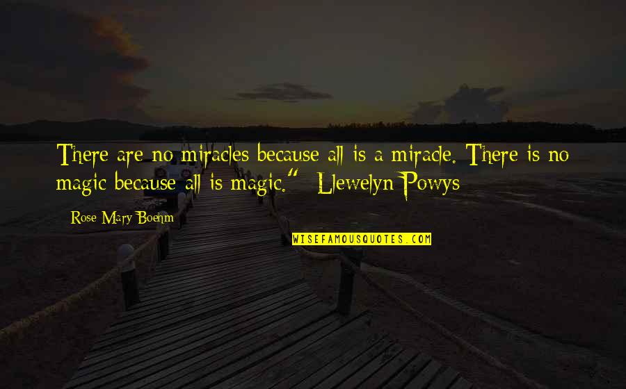 Mary Rose O'reilly Quotes By Rose Mary Boehm: There are no miracles because all is a