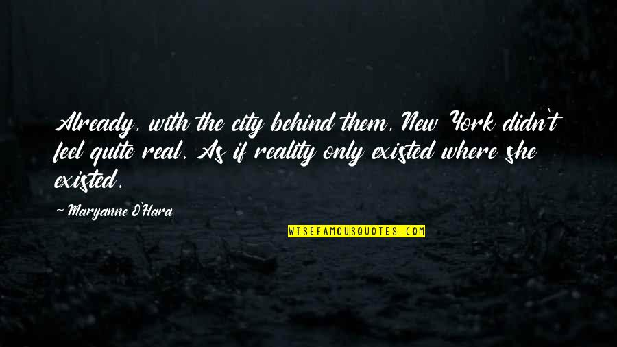 Maryanne Quotes By Maryanne O'Hara: Already, with the city behind them, New York
