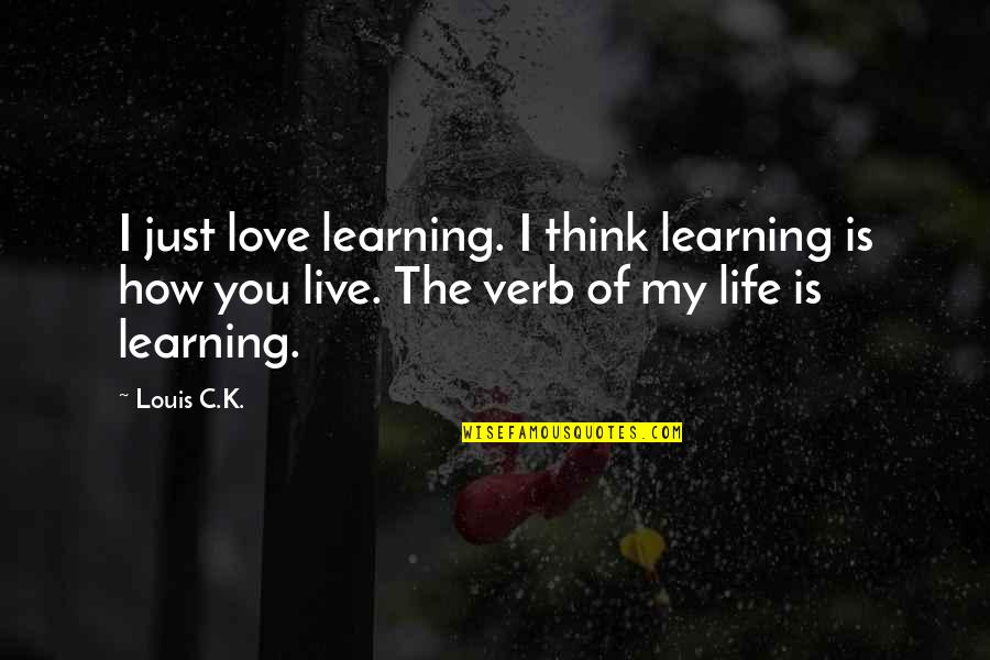 Maryse Ouellet Quotes By Louis C.K.: I just love learning. I think learning is