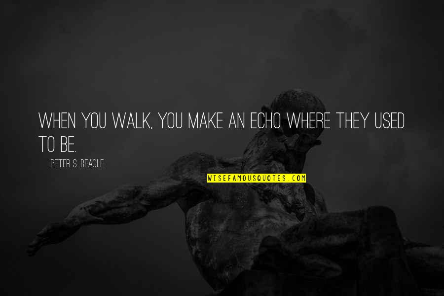 Mass Media Communication Quotes By Peter S. Beagle: When you walk, you make an echo where