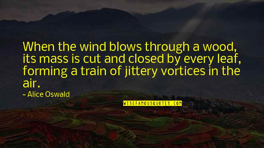 Mass Quotes By Alice Oswald: When the wind blows through a wood, its
