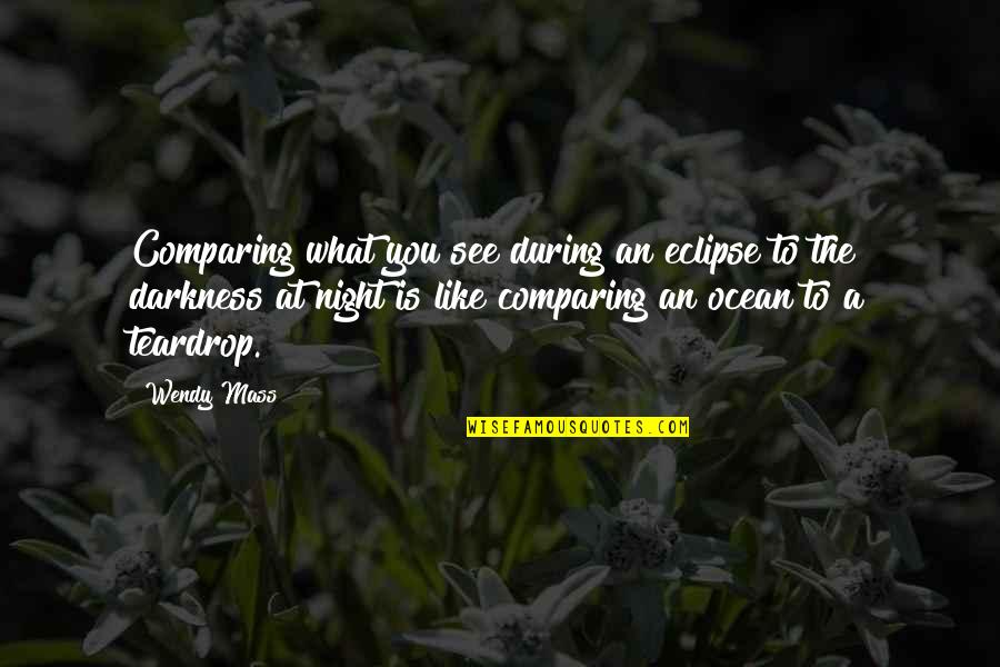 Mass Quotes By Wendy Mass: Comparing what you see during an eclipse to