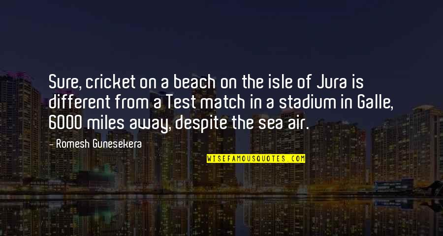 Match'd Quotes By Romesh Gunesekera: Sure, cricket on a beach on the isle