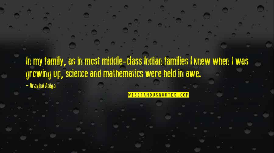 Mathematics And Science Quotes By Aravind Adiga: In my family, as in most middle-class Indian