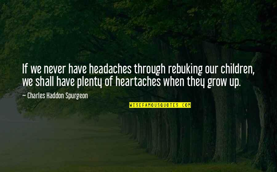 Mathieu Orfila Quotes By Charles Haddon Spurgeon: If we never have headaches through rebuking our