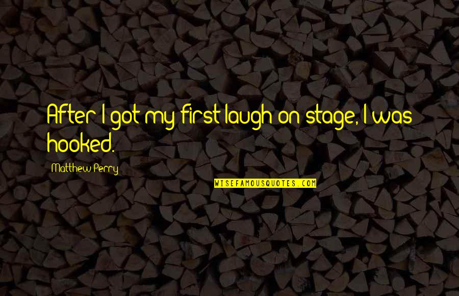 Matthew C Perry Quotes By Matthew Perry: After I got my first laugh on stage,