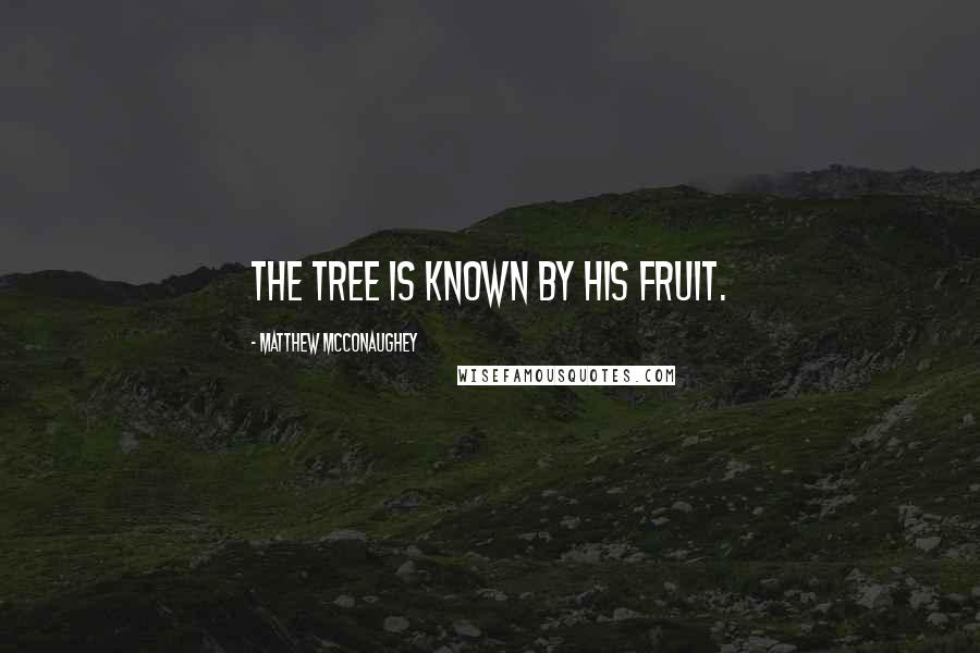 Matthew McConaughey quotes: The tree is known by his fruit.