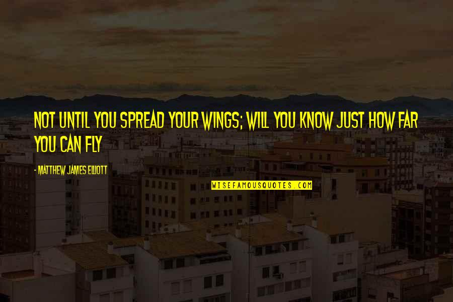 Matthew Quotes By Matthew James Elliott: Not until you spread your wings; will you