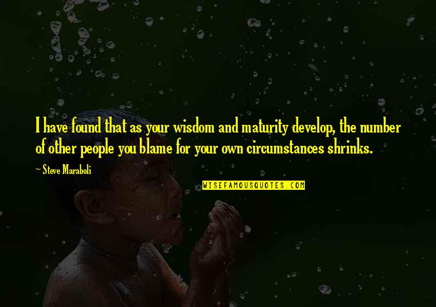 Maturity And Wisdom Quotes By Steve Maraboli: I have found that as your wisdom and