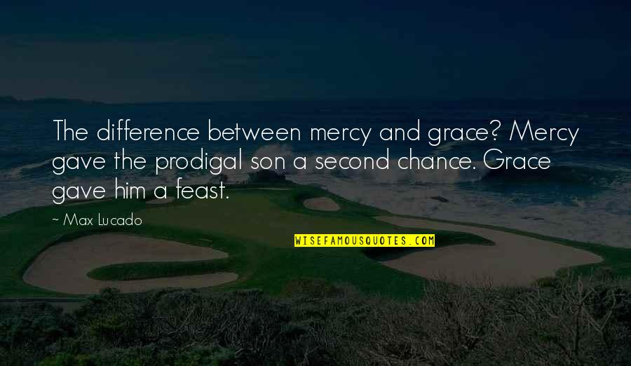 Max Lucado On Grace Quotes By Max Lucado: The difference between mercy and grace? Mercy gave