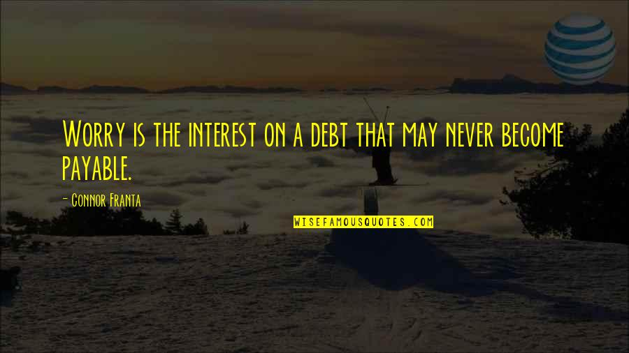 May 1 Quotes By Connor Franta: Worry is the interest on a debt that