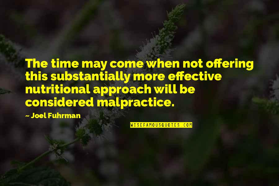 May 1 Quotes By Joel Fuhrman: The time may come when not offering this