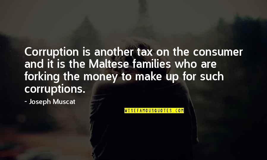 May Namimiss Quotes By Joseph Muscat: Corruption is another tax on the consumer and