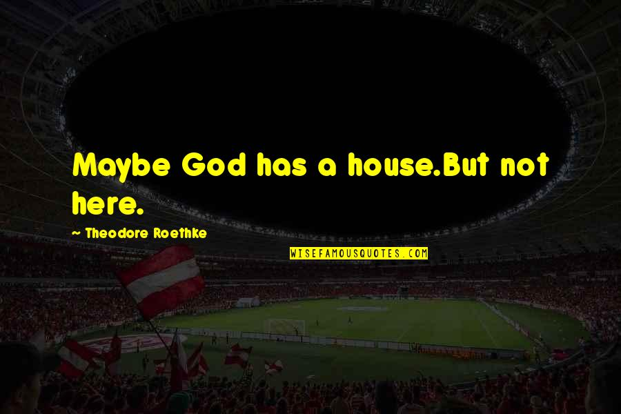 Maybe Maybe Not Quotes By Theodore Roethke: Maybe God has a house.But not here.
