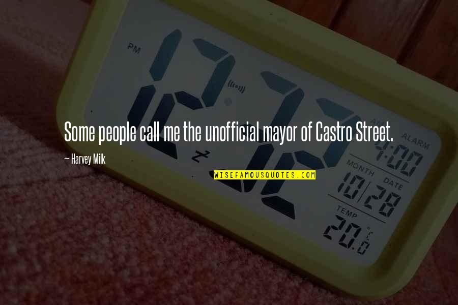 Mayors Quotes By Harvey Milk: Some people call me the unofficial mayor of