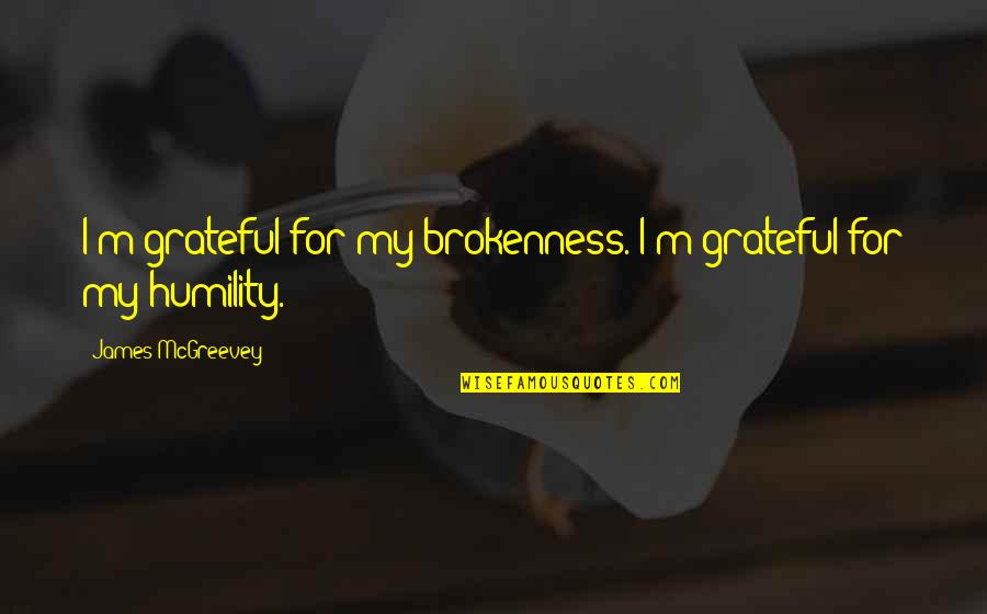 Mcgreevey Quotes By James McGreevey: I'm grateful for my brokenness. I'm grateful for