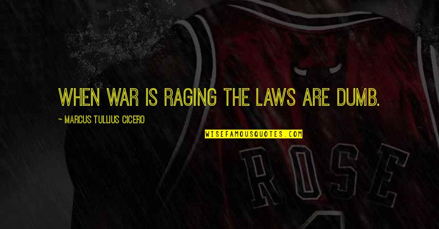 Mclagan's Quotes By Marcus Tullius Cicero: When war is raging the laws are dumb.
