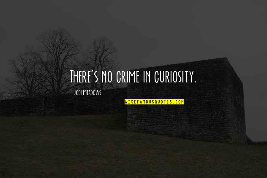 Meadows Quotes By Jodi Meadows: There's no crime in curiosity.