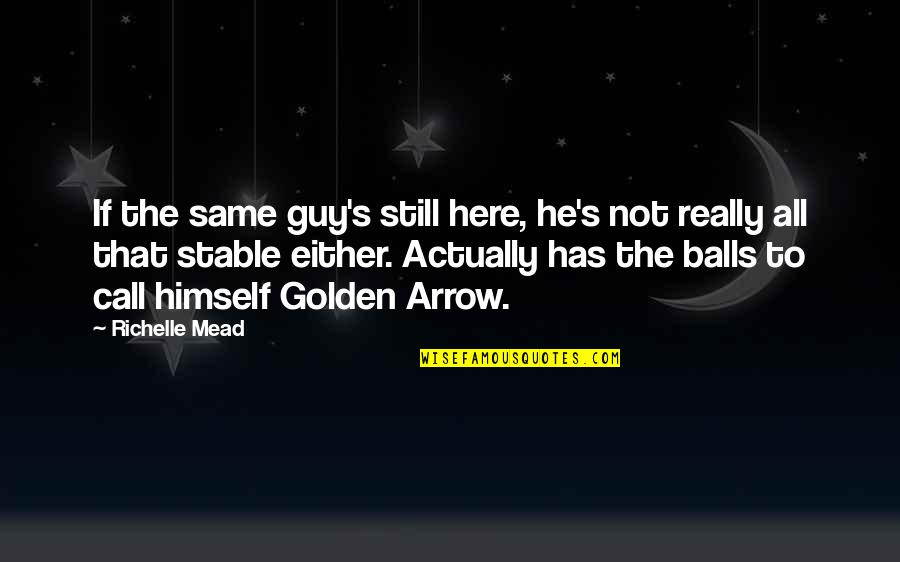 Mead's Quotes By Richelle Mead: If the same guy's still here, he's not