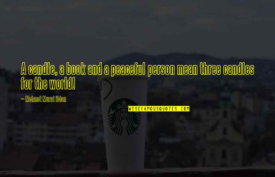 Mean Quotes And Quotes By Mehmet Murat Ildan: A candle, a book and a peaceful person