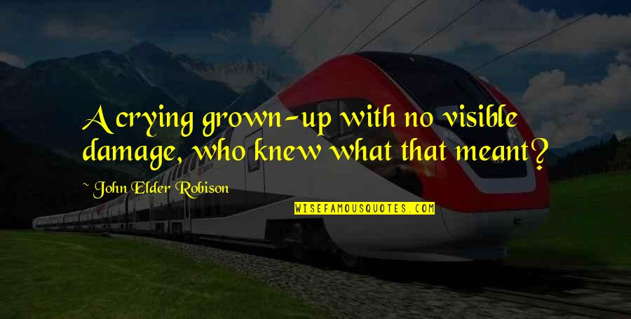 Meant For Each Other Quotes By John Elder Robison: A crying grown-up with no visible damage, who