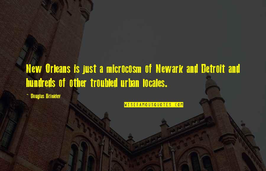 Meat Safe Murderer Quotes By Douglas Brinkley: New Orleans is just a microcosm of Newark