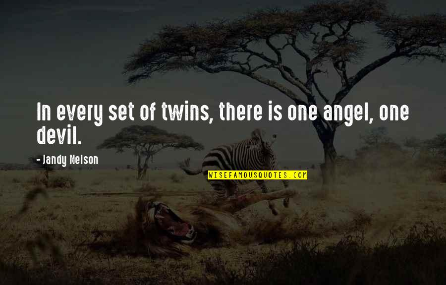 Meat Safe Murderer Quotes By Jandy Nelson: In every set of twins, there is one