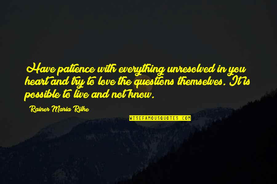 Meda Quotes By Rainer Maria Rilke: Have patience with everything unresolved in you heart