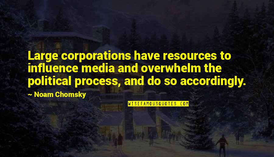 Media Influence Quotes By Noam Chomsky: Large corporations have resources to influence media and