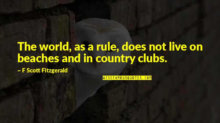 Medicine Profession Quotes By F Scott Fitzgerald: The world, as a rule, does not live