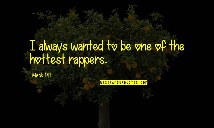 Meek Mill Hottest Quotes By Meek Mill: I always wanted to be one of the