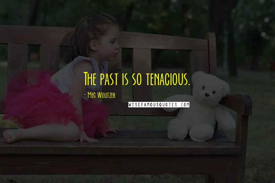 Meg Wolitzer quotes: The past is so tenacious.
