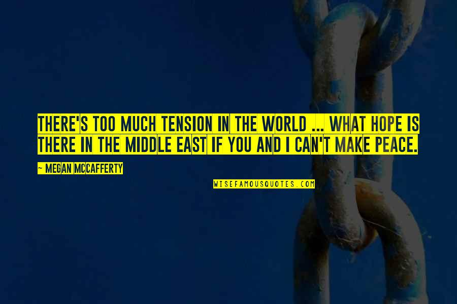 Megan Mccafferty Quotes By Megan McCafferty: There's too much tension in the world ...