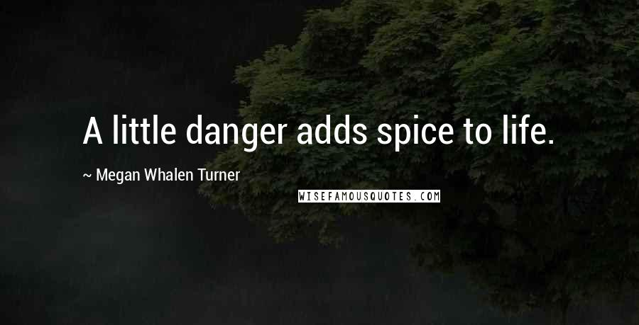 Megan Whalen Turner quotes: A little danger adds spice to life.
