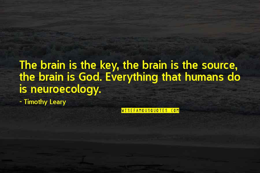 Meinhard Quotes By Timothy Leary: The brain is the key, the brain is