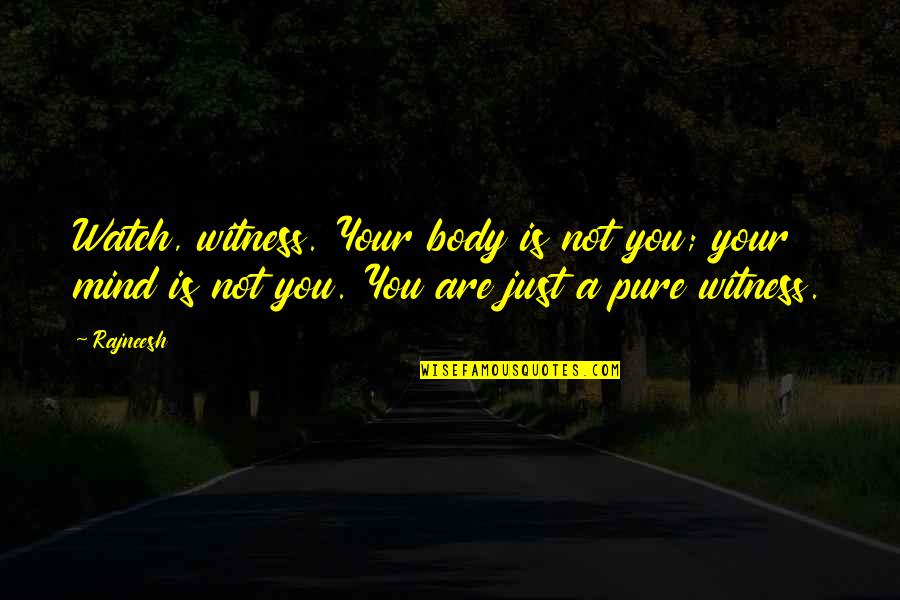 Melissa Benoist Quotes By Rajneesh: Watch, witness. Your body is not you; your