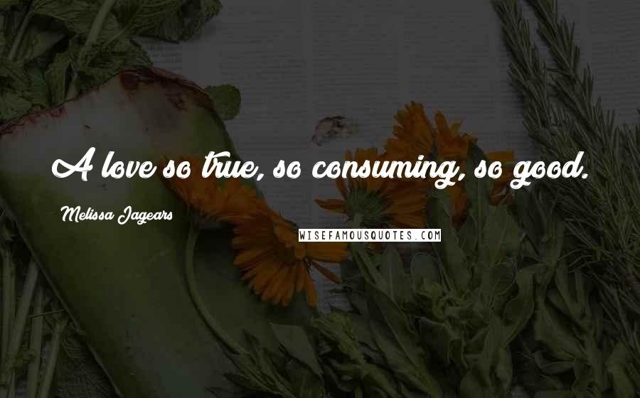 Melissa Jagears quotes: A love so true, so consuming, so good.