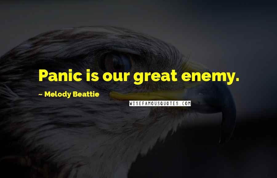 Melody Beattie quotes: Panic is our great enemy.