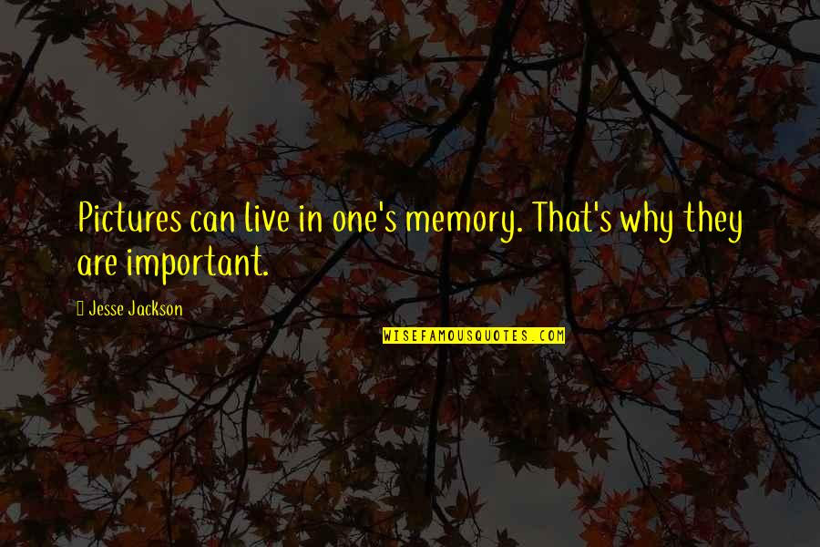 Memories And Pictures Quotes By Jesse Jackson: Pictures can live in one's memory. That's why