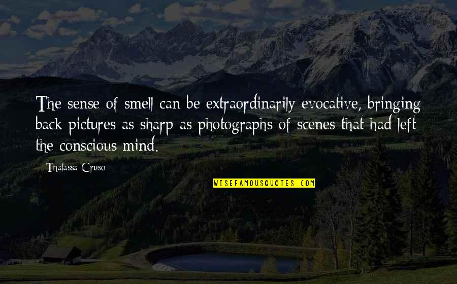 Memories And Pictures Quotes By Thalassa Cruso: The sense of smell can be extraordinarily evocative,